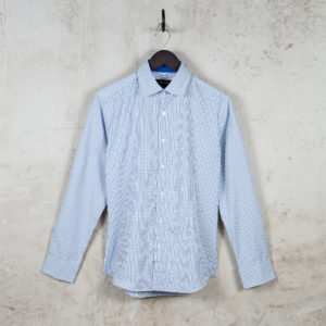 Frans Shirt Blue check-CROP